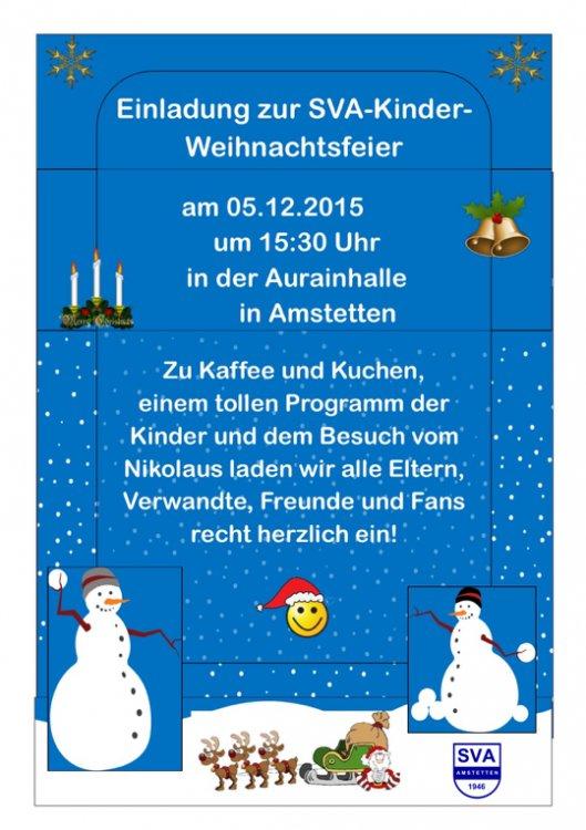SVA Kinder-Weihnachtsfeier